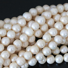 Beautiful 7-8mm white natural freshwater cultured pearl loose beads elegant women diy wholesale retail jewelry about round B1324(China)