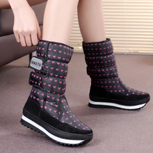 SIKETU Large Size 35-41 WEISE New Fashion Women Shoes Thermal Medium-Leg  Waterproof Boots Snow Boots Cotton Boots2017 Winter