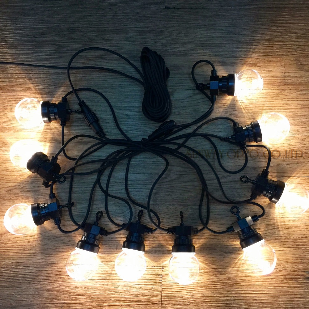 Super Bright 15 Connectable Vintage Festoon ball string Lights 75 LEDS Christmas fairy lights for outdoor patio party decoration<br>