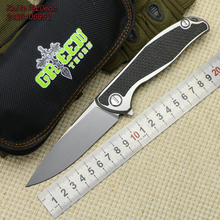 Green thorn F95 E.C.F M390 blade Titanium handle outdoor camping hunting pocket knive Surviv Flipper folding knife EDC tools(China)