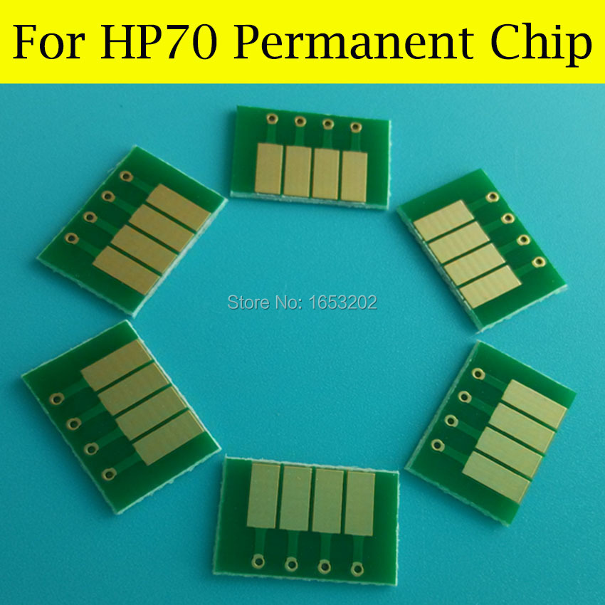 8 Color Cartridge Chip For HP Designjet Z2100 Z5200 Z5200PS Comparible For HP 70 Permanent ARC Chip<br><br>Aliexpress