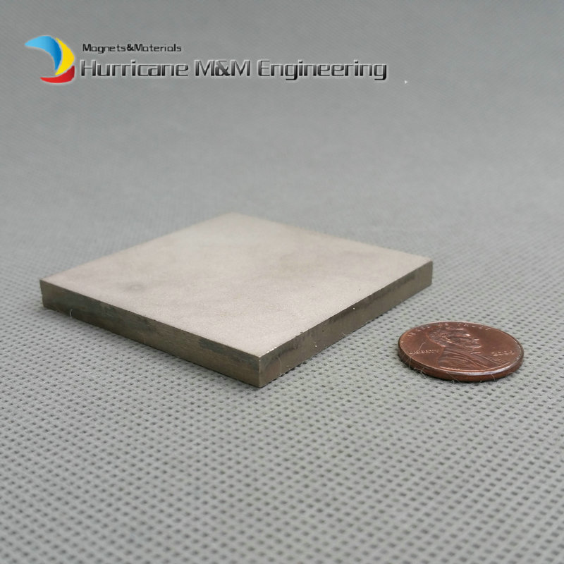 2 pcs SmCo Magnet Block 50x50x5 mm 2 Bar YXG24H, 350degree C High Temperature Mortor Magnet Permanent Rare Earth Magnets<br>