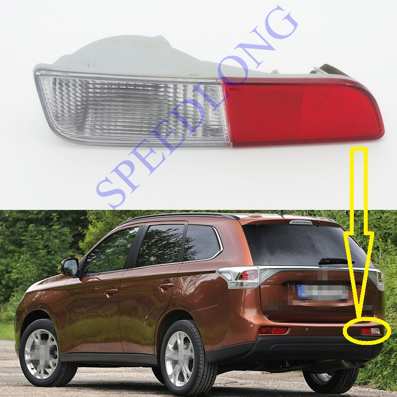 1 PC RH Without bulb tail bumper fog light rear fog lamp right for Mitsubishi Outlander 2013-2015<br>