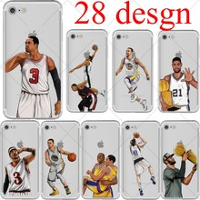 basketball Cartoon Curry McGrady Kobe Bryant soft silicone phone cases cover for iphone 6 6S 7 plus 5S SE Capinha Coque fundas