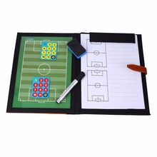 Outdoor Football Soccer Match Training Tactical Plate Coaching Board Portable Kits Magnetic Teaching Board Coach Board