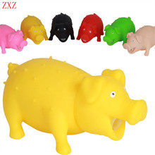 4 color random Mini pigs Funny Shrilling Sound Squeeze Screaming pig medol Novelty Toy Kids Children Gags & Practical Jokes Gift