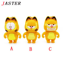 JASTER Garfield USB Flash Drive 3 styles cat pen drive 4gb 8gb 16gb 32gb pendrives animal memory stick usb creativo gift