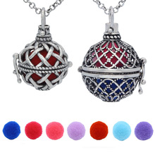 "Buy REYOW 2PCS Antique Silver Cross Flower Hollow Cage Locket Pendant Aromatherapy Essential Oil Diffuser Necklace 30"" Chain for $7.29 in AliExpress store"