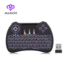 Original H9 Mini Wireless Keyboard 2.4GHz Air Mouse with RGB Backlit Remote Control Touchpad for Android TV Box Google Smart TV(China)