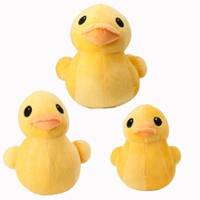 Adorable Big Yellow Duck Stuffed Animal Plush Toys Doll For Children Kids W15(China)