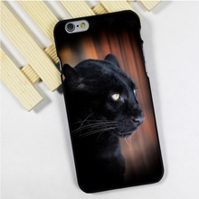 Fit for iPhone 4 4s 5 5s 5c se 6 6s 7 plus ipod touch 4 5 6 back skins phone case cover Black Panther Leopard