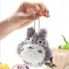 1pcs Japan Anime TOTORO plush doll birthday gift 8 cm phone/bag small pendant,keychain