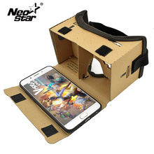 DIY Google Cardboard Virtual Reality Glasses for Phones VR BOX Headset 3D Glasses Google Cardboards Headset Glasses(China)