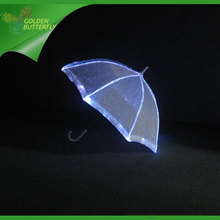 Luminous Umbrella Rain Women LED Illuminated Glowing Lace Dance optical fiber fabric Costumes Wedding Umbrella Dance Accessories
