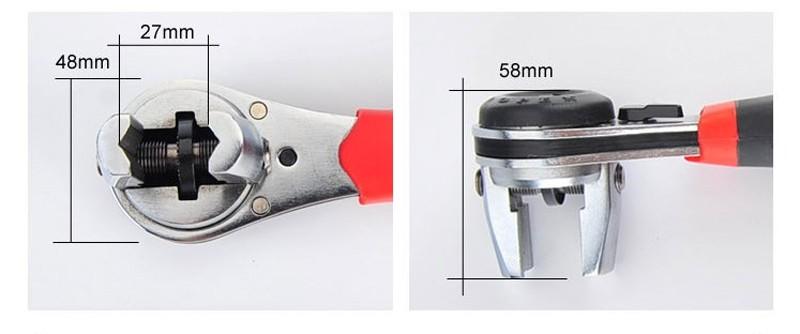 Clé à cliquet réglable de 6 à 22 mm universelle multifonction