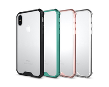 Cover for Apple iphone 8 Phone Cases Transparent armor cases for iPhone 8 TPU+Acrylic Case for fundas iphone 8 telephone cases(China)