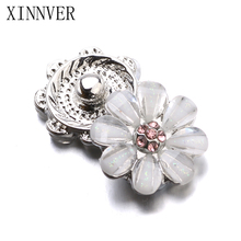 Buy 10pcs/lot Xinnver Snap Jewelry Crystal Flower Metal 12MM Snap Buttons Fit DIY OEM Snap Bracelets Women ZL040 for $2.72 in AliExpress store