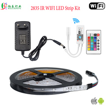 LED WIFI RGB Strip Music Controler LED RF Remote Controller Waterproof 5M 2835 Lighting RGB Flexible Diode Tape 12V 2A Adapter(China)