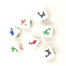 New 1Pc 6 Sides Sex Dice Game 25mm PVC Toy Fun Bachelor Party Adult Gift Random Color Sex Toys