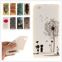 For xiaomi redmi Painting Soft TPU IMD Silicone Phone Cover For xiaomi redmi 4A 5.0 inch Back Skin Cover Cell Phone Case