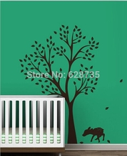 Buy Large Size 198 x141cm Tree Lovely Deer Vinyl Wall Sticker Baby/Kids Room Wall Art Decals Decoration for $37.94 in AliExpress store