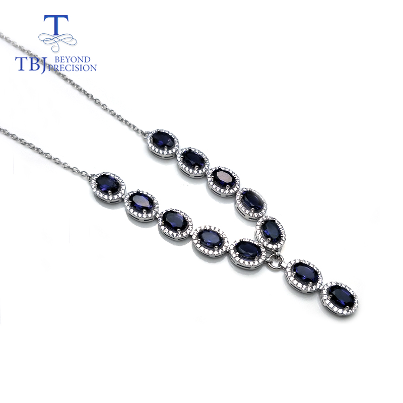 TBJ,natural iolite oval 4*6mm 4.5ct ,S925 silver noble design necklace&pendant,best gift for women &girls,Engagement gift wear