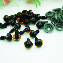 200pcs 8mm Plastic Safety Eyes Red/Brown Transparent Colors for Amigurumi or crochet doll Animal Puppet Making(China)