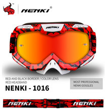 NENKI Men's Motorcycle Racing Eyewear Skiing Snowboard Glasses Colorful Lens Motocross Off-Road Dirt Bike ATV DH MX Googles(China)