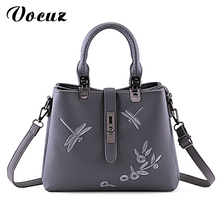 VOCUZ Women Bag Pu Leather Tote Brand Name Bag Ladies Handbag Lady Evening Bags Solid Female Messenger Bags Travel Fashion Sac