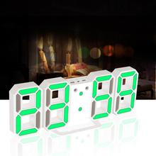 3 Color Wall Clock 3D Digital LED Table Clock Watches 24 or 12 Hour Display Clock Digital Alarm Snooze Clock for Kids Home decor(China)