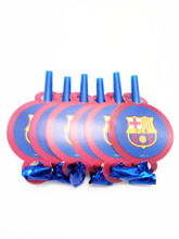 Champions League Club Barcelona Fans Celebrate Soccer Football Kids Birthday Party Noise Maker Blowout Supplies(China)