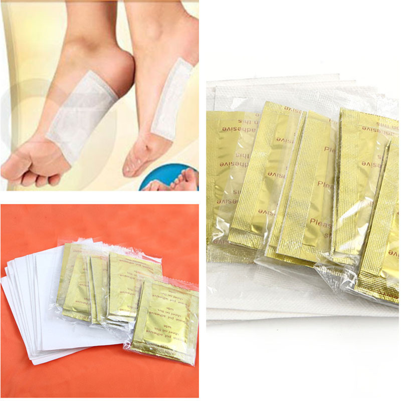 2015 New 10 PCS GOLD Premium Kinoki Detox Foot Pads Organic Herbal Cleansing Patches Free Shipping #M01024#M01024(China)