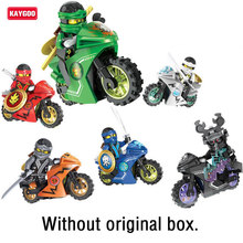 Kaygoo Ninja Motor Small Figures Motorcycle  Tornado Ninja Small Figures Building Block toys for children Kids Toys Xmas Gifts