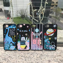 Korea Watermelon Starry Sky Baseball Wishing Bottle Dinosaur Cactus Quicksand Plastic Case Cover For Iphone6 6S 7 6Plus 7Plus(China)