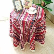 140x100cm Dining table cloth bohemia fabric table cloth round table cloth tablecloth 99