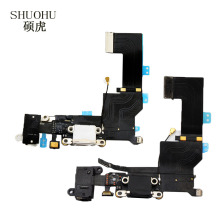 SHUOHU  Black / White For iPhone 5s  Charger Charging port Dock USB Connector Data Flex Cable Headphone Jack Flex Ribbon