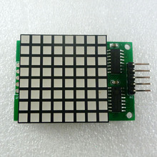8x8 Square Matrix Red LED Display dot Module74hc595 Drive for Arduino UNO MEGA2560 DUE raspberry pi(China)