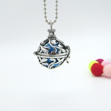 80cm Nice leaf hollowed locket ball musical pregnancy belly ball necklace with 1pc belly ball