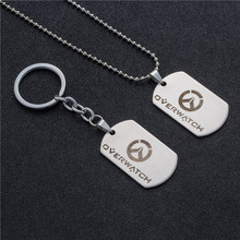 Buy Game overwatch stainless steel metal pendant necklace keychain trinket accessories Key chain brand holder cover charms for $1.19 in AliExpress store