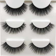 HBZGTLAD 3 different styles 3D Mink False Eyelashes Natural Crisscross Messy Soft Multilayer Fake Eyelashes Stage Makeup Lashes(China)