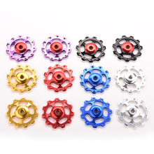11T Aluminum Alloy Bicycle Rear Derailleur Jockey Wheel Road MTB Bike Guide Roller Idler Pulley Part Cycling Bike Accessories(China)