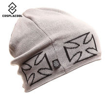 [COSPLACOOL] Fashion snowboard winter hat warm woolen caps Anti-terrorism cap lining fleece cap men and women hat