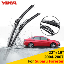 "YIKA 22""+19"" For Sabaru Forester (2004-2007) Wipers Car Glass Wiper Rubber Wipers Windshield Blades ISO9001 Car-styling"