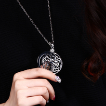 65cm long Chain Crystals Necklace Reading Glass Pendant Women Necklaces Magnifying Glass Pendant Necklace Free shipment