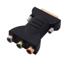 DVI-I Male to HDTV RGB Video Component Adapter Connector supports Xbox 360