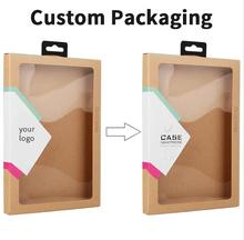 300 pcs wholesale OEM customize Kraft paper retail package box for pad 2 3 4 5 mini air 2 Tablet Cover Cases packaging boxes(China)