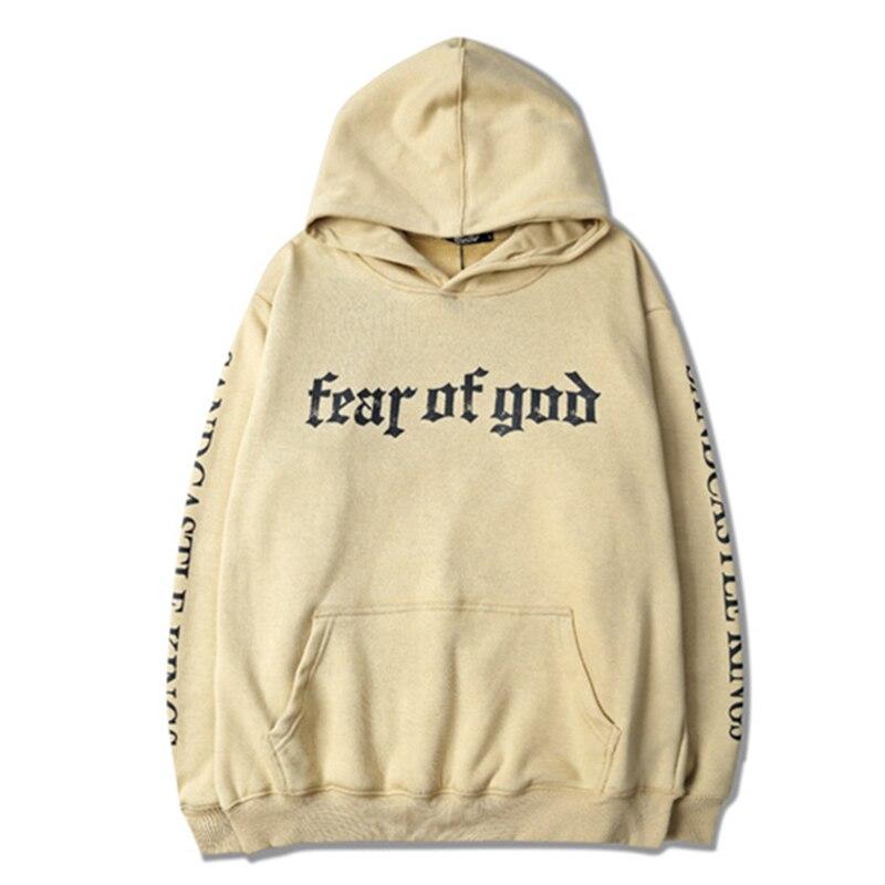 New fashion 2017 autumn men/womens casual hooded sweatshirt Justin Bieber Fear of God hip hop hoodies plus size S-XXXL