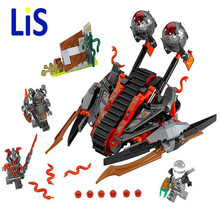 Lis 33Ninja New 10580 Vermillion Invader DIY Model Building Blocks figures Kids Toys Bricks Compatible Lepin - AbcdeFgH Store store