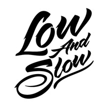 15.2*16.6CM LOW AND SLOW Cool Fashion Art Font Text Car Body Stickers Car-Styling Vinyl Decals Black/Silver C9-0393(China)