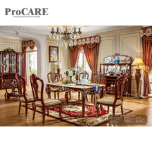 European Style Marble Round Dining Table With Rotating Centre 6005 China